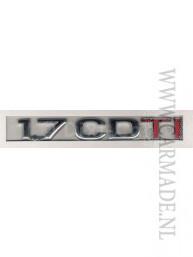 Type aanduiding Opel Corsa C & Meriva A diesel